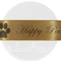 38mm Gold personalised, printed ribbon 50m