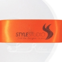 38mm Bright Orange printed ribbon double faced satin personalised ribbon