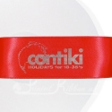 38mm Bright Red printed ribbon double faced satin personalised ribbon
