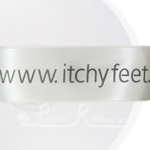 PR38IVRY50M IVORY 38mm Personalised Printed Satin Ribbon - 50m Roll