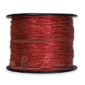 Metallic RED elastic ribbon supplied on 100m roll