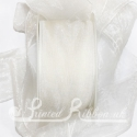 40mm white organza / chiffon ribbon, 25m roll