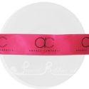 25m roll of personalised, printed 25mm wide FUCHSIA PINKdouble faced (d/f) satin ribbon