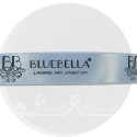 25m roll of personalised, printed 25mm wide LIGHT BLUE double faced (d/f) satin ribbon