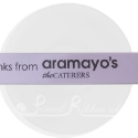 25m roll of personalised, printed 25mm wide  LILAC double faced (d/f) satin ribbon