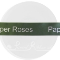 25m roll of personalised, printed 25mm wide  SAGE GREEN/ OLIVE GREEN double faced (d/f) satin ribbon