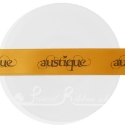 25m roll of personalised, printed 25mm wide ORANGE double faced (d/f) satin ribbon