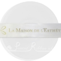 25m roll of personalised, printed 25mm wide WHITE double faced (d/f) satin ribbon