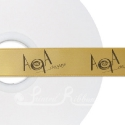BRONZE personalised wedding ribbon 25mm wide, 50m roll