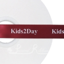 BURGUNDY personalised wedding ribbon 25mm wide, 50m roll
