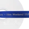 ROYAL BLUE personalised wedding ribbon 25mm wide, 50m roll