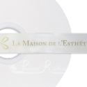 WHITE personalised wedding ribbon 25mm wide, 50m roll