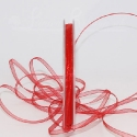 3mm red organza / chiffon ribbon, 50m roll