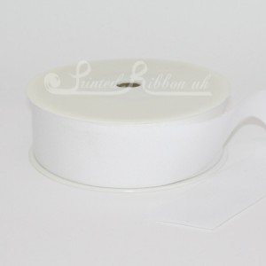CO32BLEA25M 32mm wide Bleached 100% Cotton Ribbon 25m roll