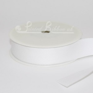 CO25HERR50M 25mm wide Herringbone 100% Cotton Ribbon 50m roll
