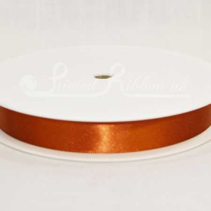 RD15COPP25M COPPER 15mm Double faced satin ribbon - 25m roll