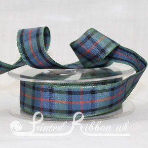 TAR25FLSCO20M Flower of Scotland classic tartan ribbon 25mm x 20m roll