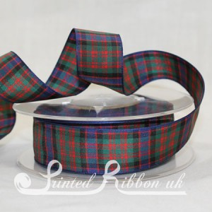 TAR25MACDON20M MacDonald Clan classic tartan ribbon 25mm x 20m roll