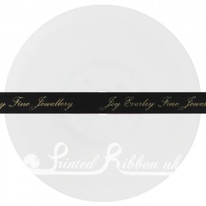 RD10CHAR25M CHARCOAL Personalised Printed Satin Ribbon - 25m Roll