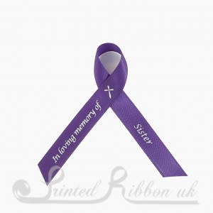ST10PK Pack of 10 In loving memory of Sister / Memorial ribbons with pin attached