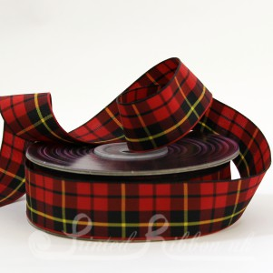 TAR25WAL20 Wallace Clan classic tartan ribbon 25mm x 20m roll