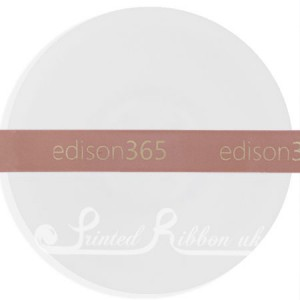 PR15RGLD50M ROSE GOLD 15mm Personalised Printed Satin Ribbon - 50m Roll