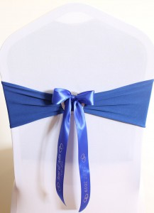 PR-CHB 1 x Chair Bow With Personalised Ribbon