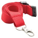 Red Lanyard With Silver Clip