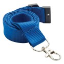 Reflex Blue Lanyard With Silver Clip