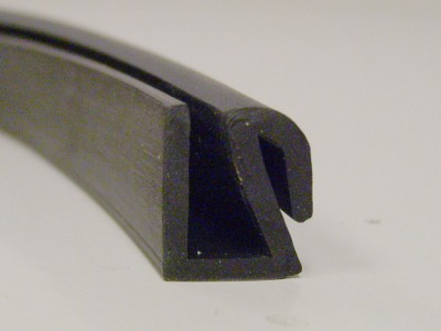 BRS 990 Square Channel with Lip Rubber Section