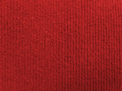 Red Needlecord Wall Carpet