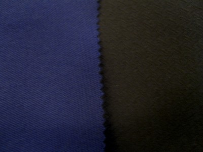 Navy (Black Backing) Twillfast Mohair