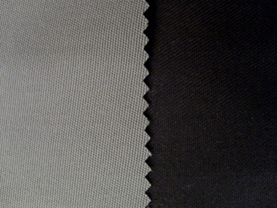 Grey (Black Backing) Stayfast Mohair Hooding