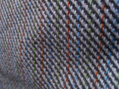 Grey Twill Patterned Woven Vauxhall Fabric F404