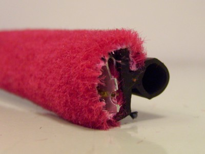 Red Moquette Draught Excluder