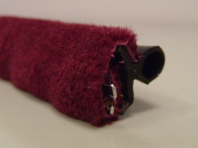 Maroon Moquette Draught Excluder
