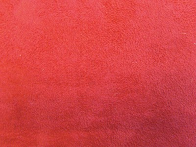 Red Faux Suede Foam Backed Fabric F1241