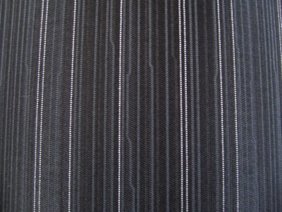 Black Stripe Patterned Foam Backed Fabric F1338