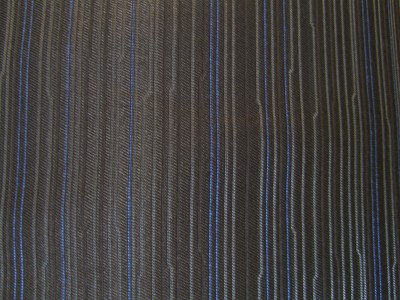 Black with Blue Stripe Patterned Foam Backed Fabric F1365