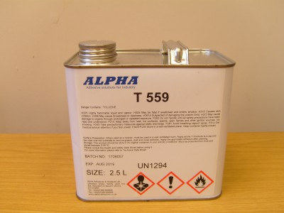 T559 Thinners for Adhesive 2.5L