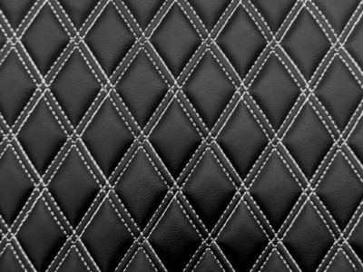 Black/White Diamond Quilted Vinyl