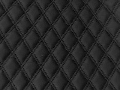 Black/Black Diamond Quilted Vinyl