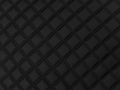 Black/Black Square Quilted Vinyl
