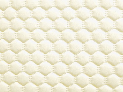 White/White Hexagon Quilted Vinyl