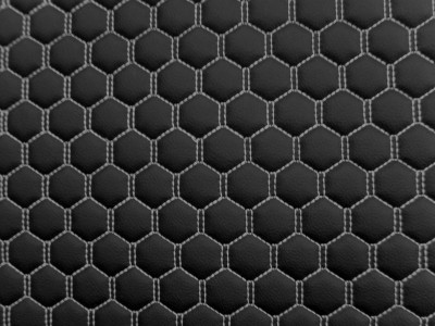 Black/White Hexagon Quilted Vinyl