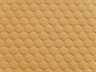 Beige/Beige Hexagon Quilted Vinyl