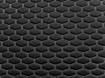 Black/White Long Hexagon Quilted Vinyl