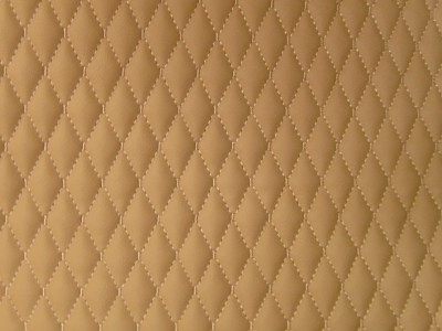 Beige/Beige Single Small Diamond Quilted Vinyl