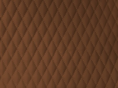 Mocca/Mocca Single Small Diamond Quilted Vinyl