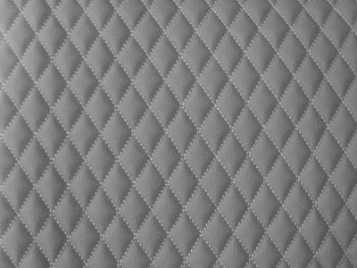 Grey/Grey Single Small Diamond Quilted Vinyl